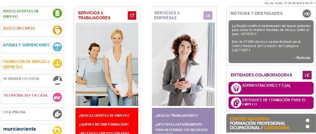 www sefcarm es  Murcia Empleo  Servicio Empleo Comunidad de